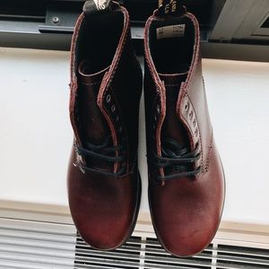 Blundstone Shoes - Blundstone Maroon Combat Boots (worn once)